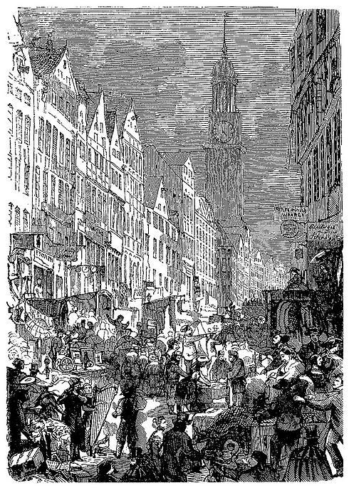 »Judenbörse« Elbstraße (Zeichnung)