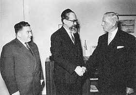 Empfang bei Bürgermeister Max Brauer
